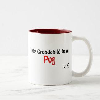 Pug Grandchild Two-Tone Coffee Mug
