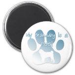Pug Granddog 2 Inch Round Magnet