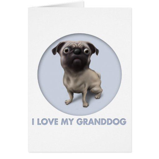 Pug Granddog Card