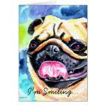 Pug Greeting Card