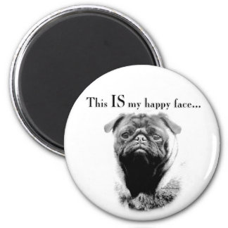 Pug Happy Face Magnets