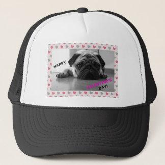 Pug Happy Valentine's Day Trucker Hat