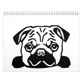 Pug head calendars