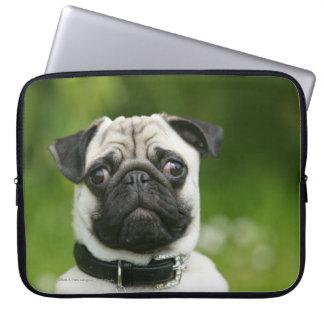 Pug headshot computer sleeves
