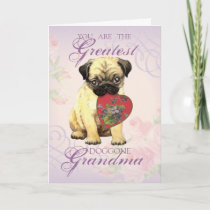 Pug Heart Grandma Card