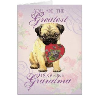 Pug Heart Grandma Card