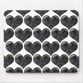 Pug Hearts Mouse Pad