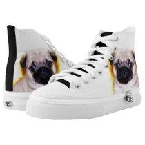 Pug  high top tennis shoes