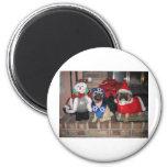 Pug Holiday Fridge Magnets