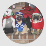 Pug Holiday Sticker