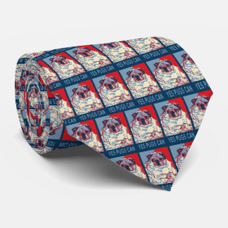 Pug 'Hope Poster' Tie
