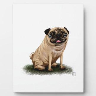 Pug Illustration Art Dog Photo Plaques