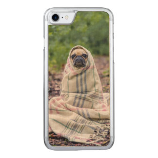Pug in a Blanket Carved iPhone 8/7 Case
