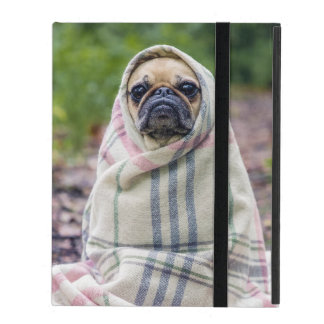 Pug in a Blanket iPad Folio Case