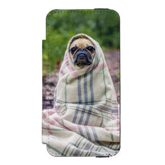 Pug in a Blanket Wallet Case For iPhone SE/5/5s