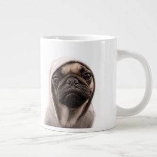 Pug In A Hoodie Giant Coffee Mug