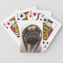 Pug In A Hoodie Playing Cards