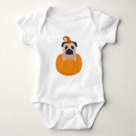 Pug In A Pumpkin Baby Onsie Baby Bodysuit