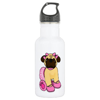Pug In A Tutu Stainless Steel Water Bottle