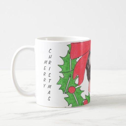 Pug in a Wreath Coffee Mug