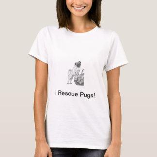 Pug in Black & White T-Shirt