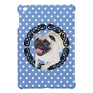 Pug in frame polka dots case for the iPad mini