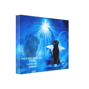 Pug in Heaven as Angel Sympathy Canvas
