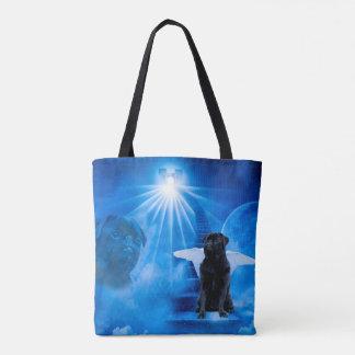 Pug in Heaven as Angel Sympathy Tote Bag