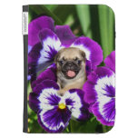 Pug in Pansies Cases For Kindle