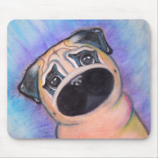 Pug in Pastel Mouse Pad