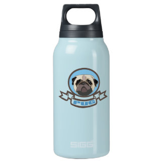 pug insulated water bottle