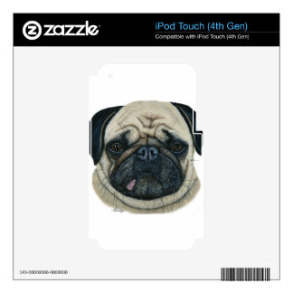 Pug iPod Touch 4G Skin