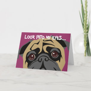 Pug cards zazzle pug is watching birthday card m4hsunfo