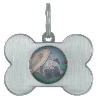 Pug items - Art by Lisa Stanley Pet Tags