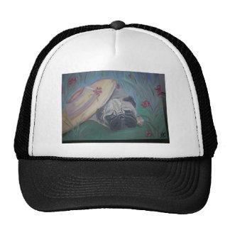 Pug items - Art by Lisa Stanley Trucker Hat