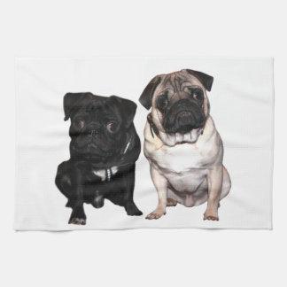 Pug Jack and Richi Kitchen Towel