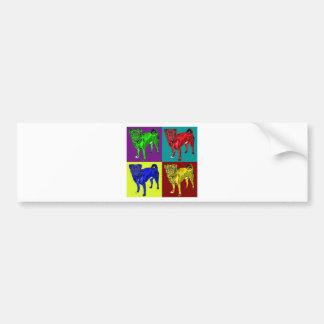 Pug Jack in 4 colors Bumper Sticker