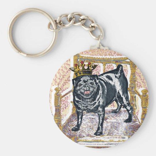 Pug King Keychain
