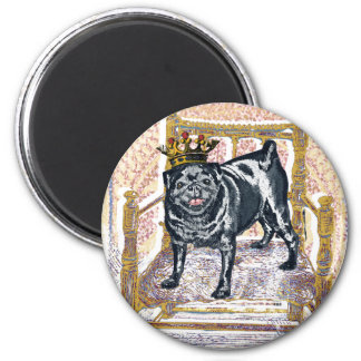 Pug King Magnet