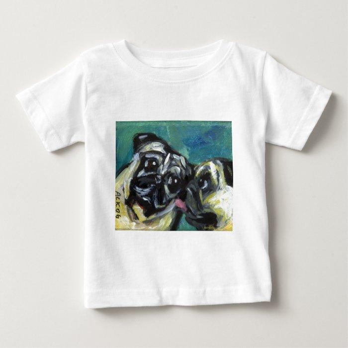 Pug kisses pug baby T-Shirt
