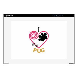 Pug Laptop Decal