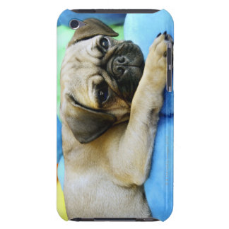 Pug laying on pillows barely there iPod cases