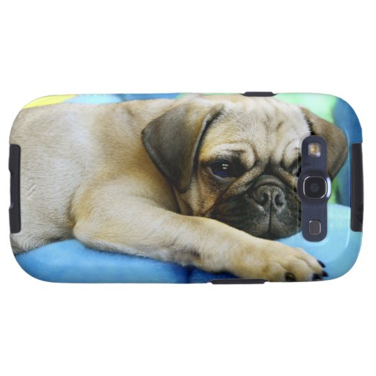 Pug laying on pillows galaxy s3 cover