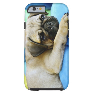 Pug laying on pillows tough iPhone 6 case