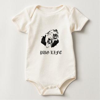 Pug Life Baby Bodysuit