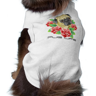 Pug Life Cool Tattoo Style Shirt for your Dog! Doggie T Shirt