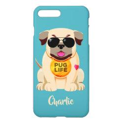 iPhone 7 Plus Case with Pug Phone Cases design