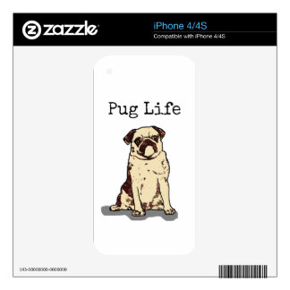Pug Life Decals For iPhone 4