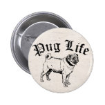 Pug Life Funny Dog Gangster 2 Inch Round Button