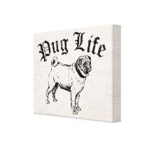 Pug Life Funny Dog Gangster Canvas Print